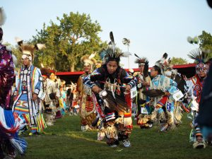 Dancer at United Tribes Pow wow North Dakota