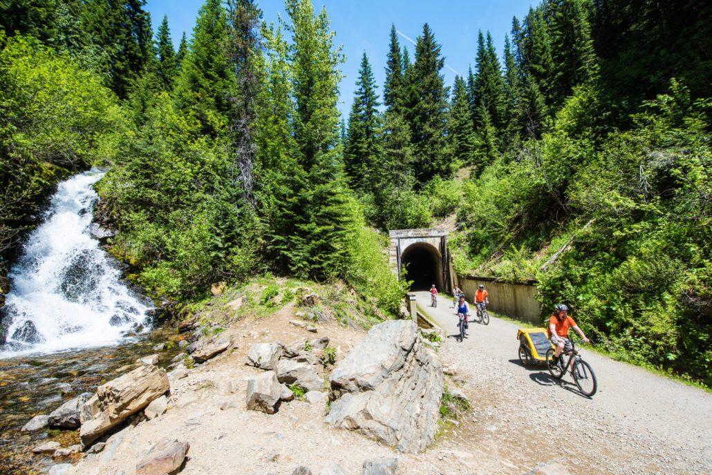Bike the route of the Hiawatha trail