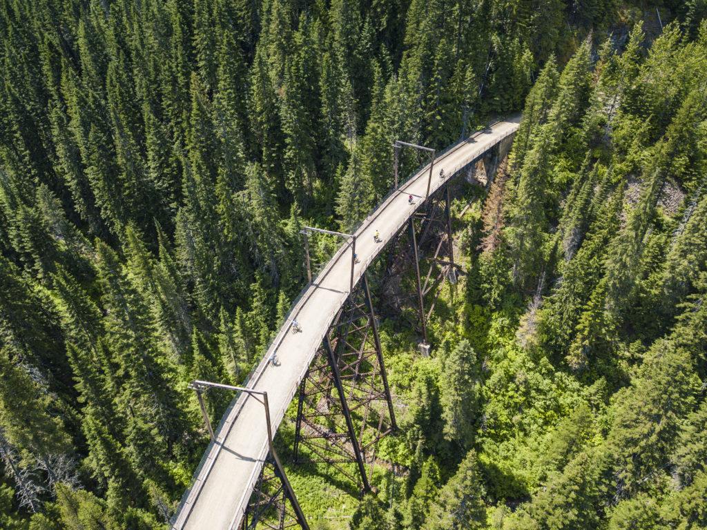 Bike the Route of the Hiawatha trail in Idaho