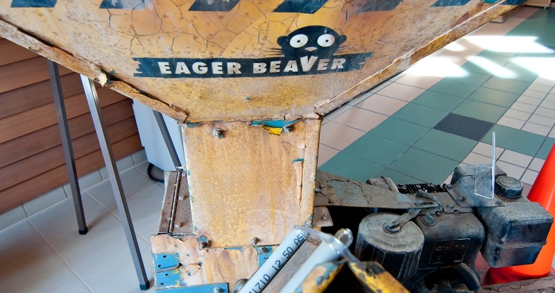 The woodchipper on display form Fargo the Movie