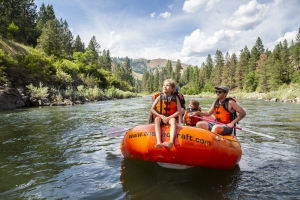 Rafting the Payette River Idaho is girls' adventure fun