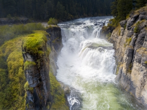 the wonderful Lower Mesa Falls in Targhee National Forest