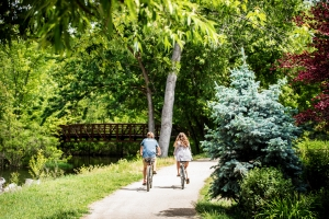 Biking tracks, Boise River Green Belt give access to many of the city parks