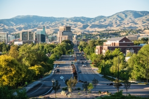 Downtown Boise Idaho is a green and beautiful city
