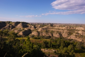 Badlands rugged terrain North Dakota