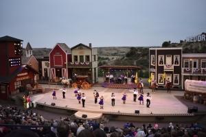 Medora Musical on outdoor amphitheater stage in Medora North Dakota