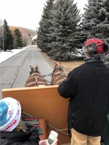 Christmas sleigh ride Sun Valley
