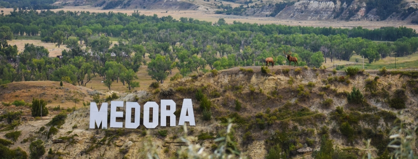Medora Town Sign